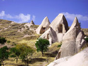 Fairy chimneys, the erosional sculpture of Cappadocia, Central Turkey - image courtesy of Grahame Brooks