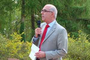 Philip White, Chief Executive of Hestercombe Gardens. - image courtesy of Betty McKernan